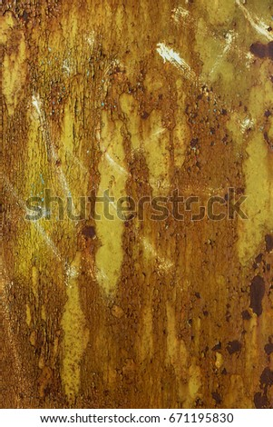 Abstract natural background texture of old grunge rust iron wall. Abstract background rusty metal surface as a base for creative design