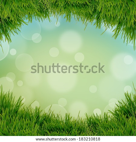 abstract natural background with fresh green grass - stock photo