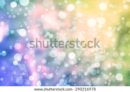Abstract Natural Glittering Snowflake Color Pastel Yellow and Purple Bokeh Texture Background - stock photo