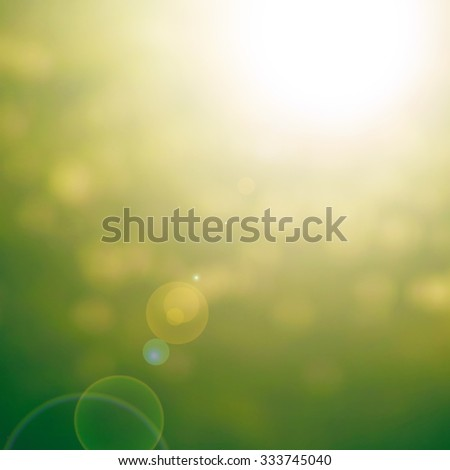 abstract nature background with glare
