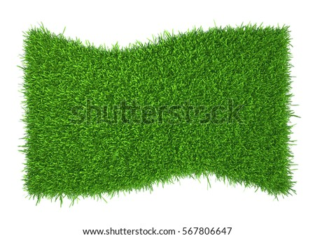 Abstract nature grass frame copy space. 3d rendering