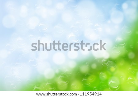 abstract nature with bubble background. - stock photo