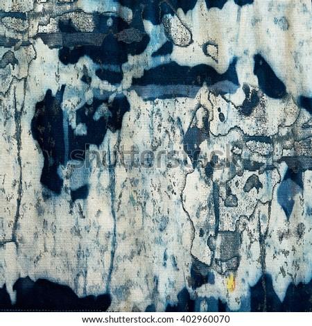 Abstract navy blue batik background - stock photo