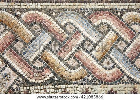 abstract 2nd century roman mosaic border stock photo 421085866, Hause deko