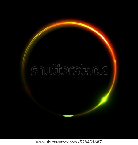 Abstract neon background. luminous swirling bunner. Glowing spiral.  Shine round frame with light circles light effect. Glowing cover.  Space for your message. Glossy. LED ellipse.