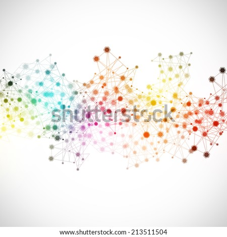 abstract net global connections concept multicolor background - stock photo