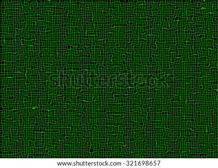 abstract net of green curled lines backgrounds