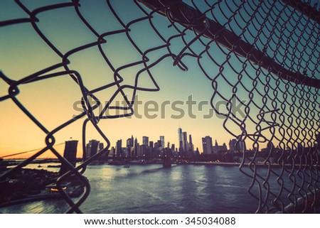 abstract new york city - stock photo