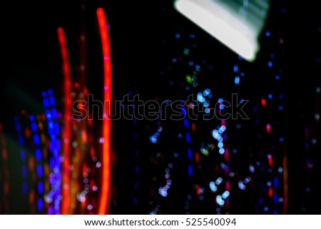 Abstract night lights texture motion background