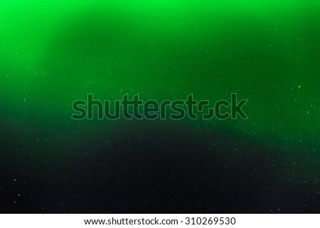 abstract night sky with stars aurora coloring background - stock photo
