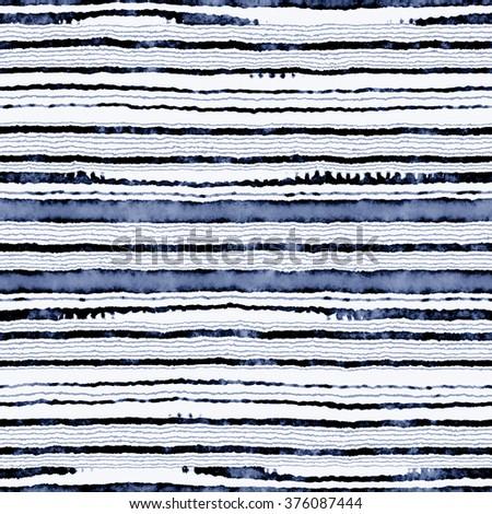 Abstract noisy striped motif. Seamless pattern. - stock photo
