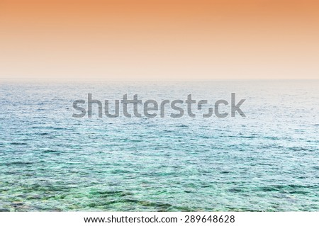 Abstract ocean landscape - stock photo