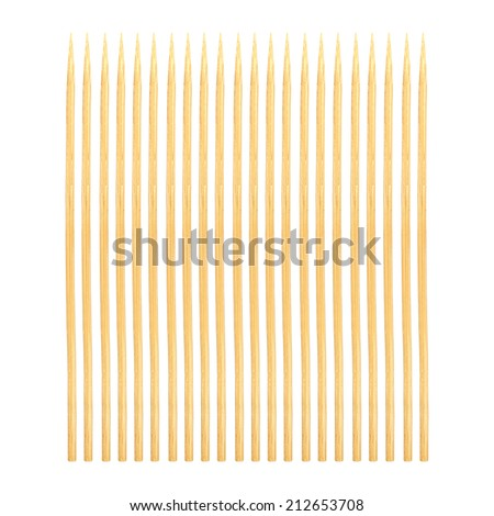 Abstract of Bamboo toothpicks isolated on white background - stock photo