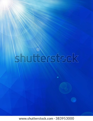 Abstract of Blue Light Rays, may use for modern technology.