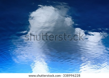 Abstract of Cloud reflections water / Cloud reflections water - stock photo