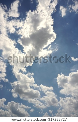 abstract of cloudscape with the blue sky