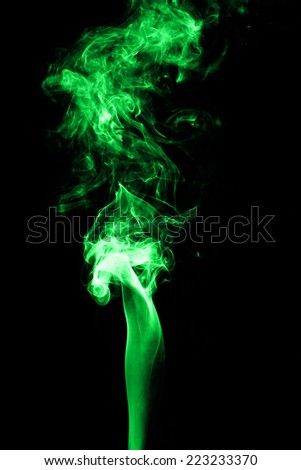 Abstract of color smoke on black background.