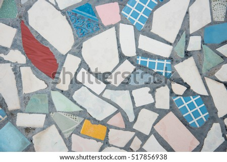 Abstract of colorful mosaic texture as background