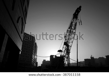 abstract of construction work place for background used