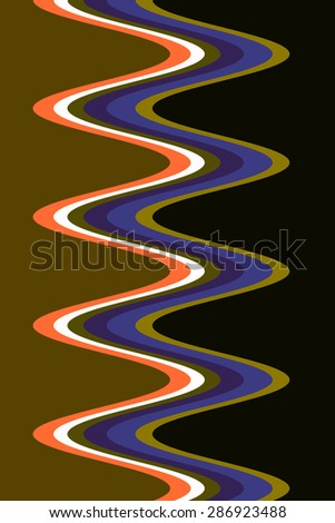Abstract of corkscrew light trails for decoration and background with themes of recurrence, symmetry, fluidity - stock photo