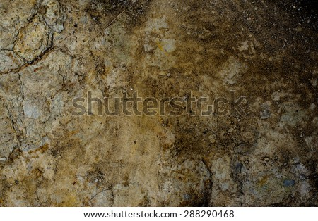 Abstract of dry ground with brown color lighting on left and darken on right - stock photo