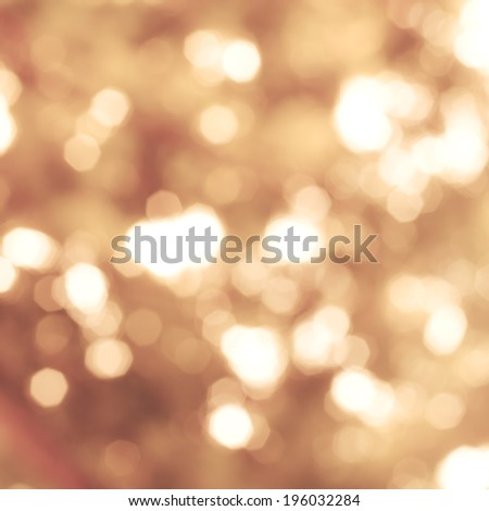 Abstract of gold bokeh defocused lights - stock photo