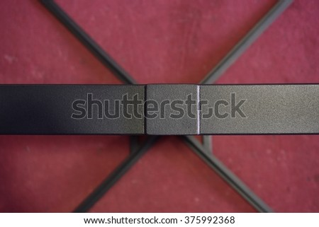 abstract of metal X shape for background used - stock photo