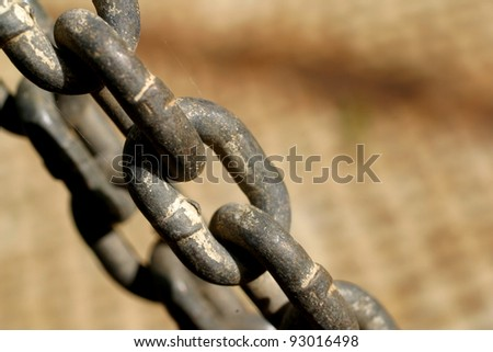 Abstract of old chain - stock photo