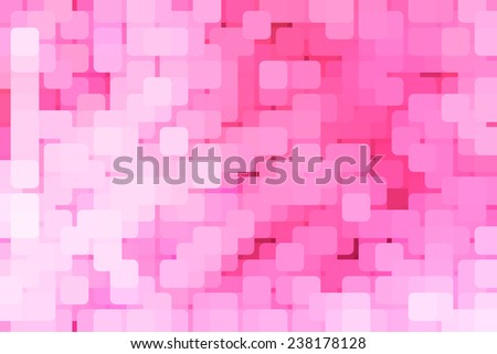 Abstract of red-light district, with rounded squares overlapping for illusion of three dimensions - stock photo
