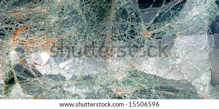 Abstract of shattered window glass suitable for background use