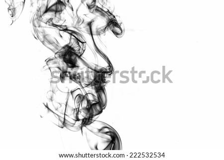 Abstract of smoke on white background. - stock photo