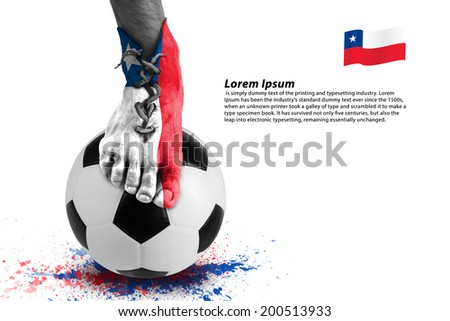 Abstract of soccer player shoes ,colorful splash with sport ball on white background