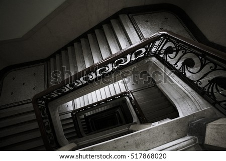 Abstract of spiral staircase background picture