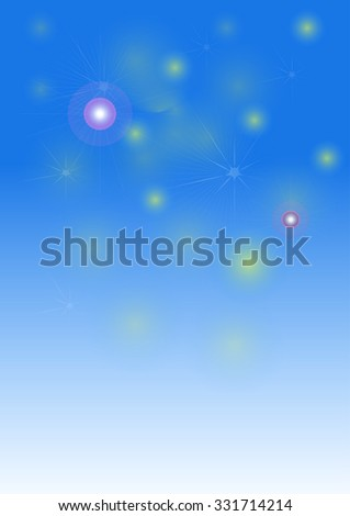 abstract of stars and fireworks