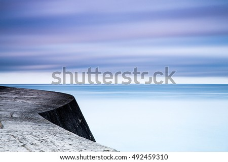 Abstract of The Cobb jetty at Lyme Regis in England