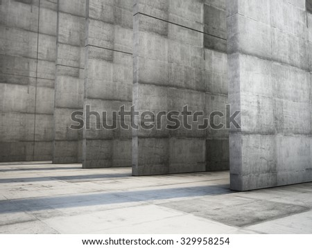 Abstract of the concrete geometric background. 3D render
