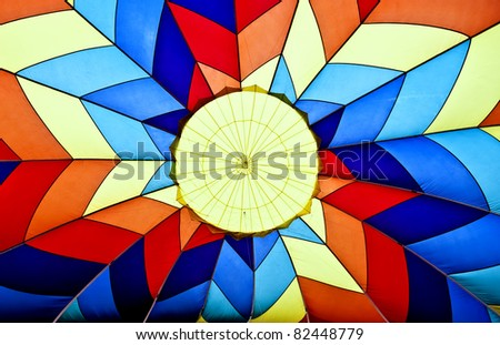 Abstract of the Inside if a Hot air Balloon During Inflation