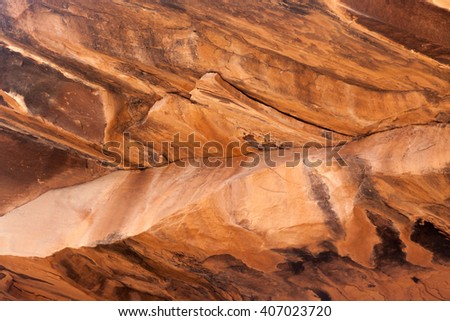 Abstract of Utah stone with desert varnish