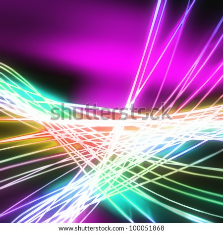 Abstract of weaving line ,lighting and glow effect