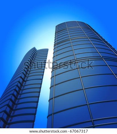 Abstract Office Buildings - stock photo