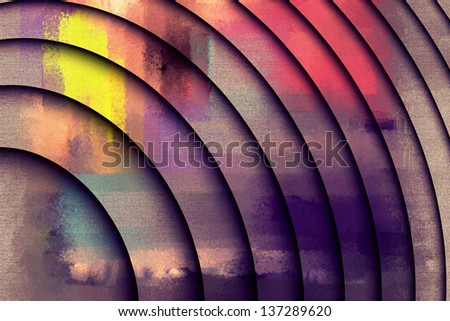 abstract oil colors paintings - stock photo