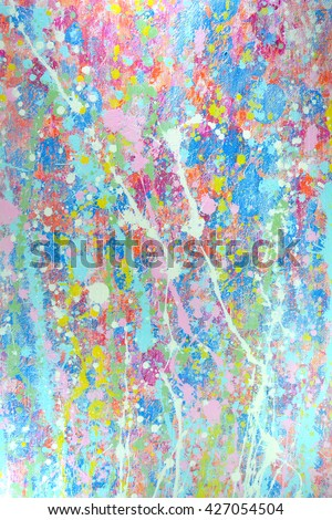 Abstract oil paint texture on canvas, background. Artistic acrylic paint. Oil painting on canvas. Modern art, contemporary art. Painted wall. - stock photo