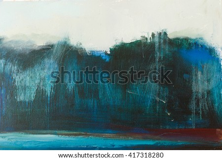 Abstract oil  painting background. Oil on canvas texture.Hand drawn oil painting.Color texture. Fragment of artwork. Brushstrokes of paint. Modern art. Contemporary art. Colorful canvas.  - stock photo