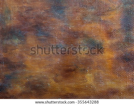 Abstract oil painting background with brush strokes texture on canvas. Art concept. - stock photo