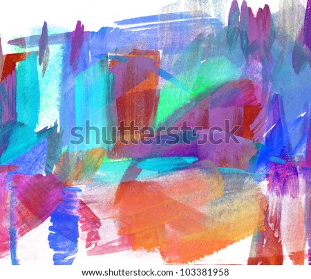 Abstract oil painting. Blurred stain. Freehand drawing - stock photo