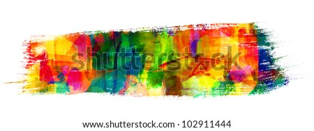 Abstract oil painting. Brush stroke. Freehand drawing - stock photo