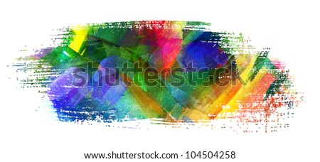 Abstract oil painting. Brush stroke. Smeared spot. Blot. Freehand drawing - stock photo