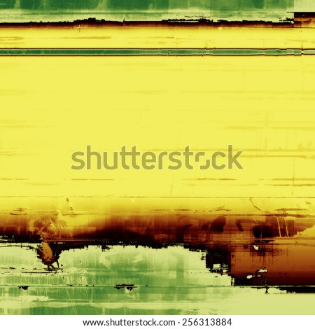 Abstract old background or faded grunge texture. With different color patterns: yellow (beige); brown; gray; green - stock photo