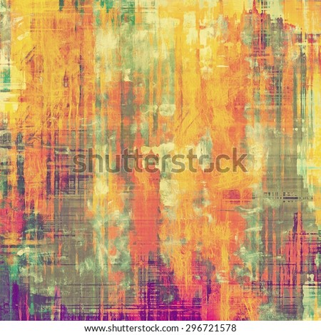 Abstract old background or faded grunge texture. With different color patterns: yellow (beige); purple (violet); green; red (orange) - stock photo