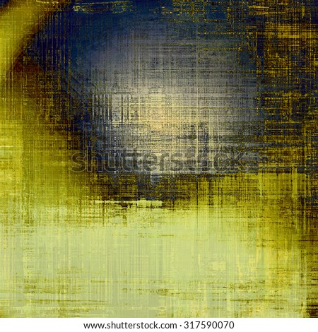 Abstract old background or faded grunge texture. With different color patterns: yellow (beige); brown; gray; blue - stock photo
